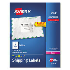 Avery Shipping Labels with TrueBlock Technology Laser 3 1/2 x 5 White 400/Box
