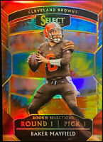 🔥 2018 BAKER MAYFIELD RC /25 PANINI SELECT CONCOURSE TIE-DYE PRIZM Refractor