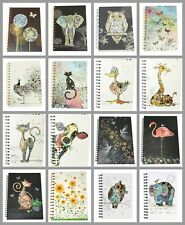 A5 Hardback Spiral Bound Notebook Jotter Writing Pad Notepad Cow Elephant Fairy