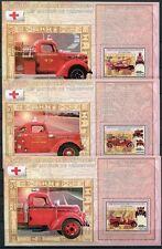 KONGO KINSHASA Feuerwehr Fire Brigade Feuerwehrautos Blocks (6) ** MNH