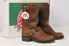 Canada West Boots - Mens Brown Leather Motorcycle Biker Engineer 6 3E 5085