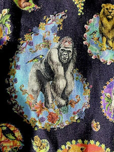 NWT Robert Graham Animal House Gorilla Paisley Skull Dress Shirt XL