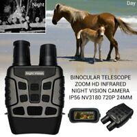 Binocular Telescope Zoom HD Infrared Night Vision Camera IP56 NV3180 720P 24mm