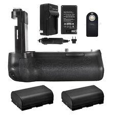 Vivitar Battery Grip for Canon 80D  + 2x LP-E6 Batteries + Charger + Remote