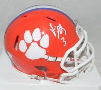 VIC BEASLEY AUTOGRAPHED SIGNED CLEMSON TIGERS SPEED MINI HELMET JSA