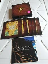 Riven The Sequel to Myst PC Computer Game 5 CD With Manual CDs Unopened New