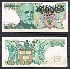 POLONIA POLAND 500000  ZLOTYCH 1990   Pick 161    SC  UNC