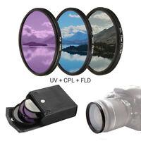 Objektiv Filter Kit Set UV CPL Fld 3 IN 1 Tasche Für Kanone Nikon sony Praktisch