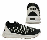 Puma Avid FuseFit Mens Lace Up Black White Low Top Trainers 367242 01 B101A