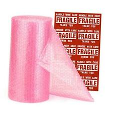 """Bubble Cushioning Wrap Roll 12x26 FT Bubble Roll- Perforated 12""""x36Ft Pink"""
