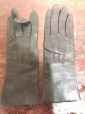 Vintage Women's Black Kidskin Leather Gloves, Size 6-3/4