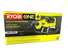 "Ryobi ONE+ Cordless Band Saw 18V Portable, 2.5"", Tool Only P590"