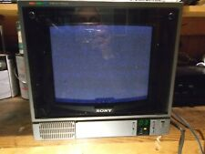 "Sony  CVM-1271  Trinitron  12""  Vintage CRT  Gaming  Monitor"