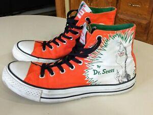 Converse Unisex Hi-Tops Dr. Seuss How The Grinch Stole Christmas M8.5 W10.5