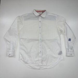 Robert Graham Button Up Long Sleeve Shirt Size Men's Large White