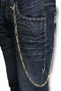Men Silver Long Wallet Chains Metal Fashion KeyChain Biker Trucker Basic Classic