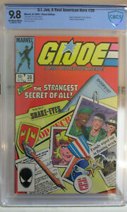 G.I. JOE #26 CBCS 9.8 NM/MT OW/W 1984 Origin of SNAKE EYES LARRY HAMA [Not CGC]