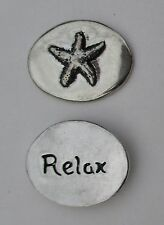 E Relax starfish spirit HANDCRAFTED PEWTER POCKET TOKEN CHARM basic coin