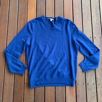 Gap Size XL Blue Jumper Extra Fine Merino Wool Casual
