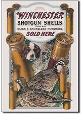 Winchester Dog and Quail Metal tin sign hunting shotgun home Wall decor new