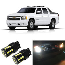White LED 7440 W21W Backup Reverse Light Bulbs For 2007-2013 Chevy Avalanche