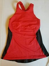 LULULEMON Spin It To Win It TANK TOP Love Red COAL Cross Back Spin Cycling SZ 6