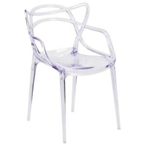 Flash Furniture Nesting Series Modern Clear Plastic Accent Chair