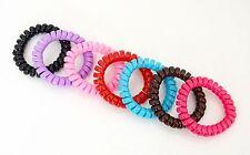 Chouchou Ressort x1 / Bracelet Elastique Fil Téléphone Accessoire Cheveux - Uni