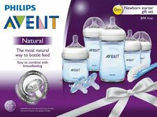 BRAND NEW, UNOPENED Philips Avent Natural Baby Bottle Blue Gift Set, SCD206/12