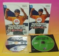 Tiger Woods Golf 09 + 10 -  Nintendo Wii Wii U Game Lot Tested & Working Golfing