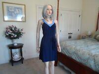 New Banana Republic Navy Blue V Neck Dress Size XS