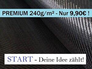 START - Premium-Carbongewebe 240g/m² Köper, Kohlefaser CFK, Z-HGC-Twill240 0,3qm