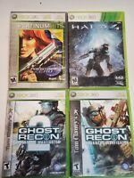 Lot -7 Xbox 360 Battlefield, Tony Hawk's, Ghost Recon, Halo 4, Blazing Angels