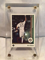 KIRK GIBSON 1989 UPPER DECK WS MOMENT CARD #666 IN THICK CLEAR PLASTIC