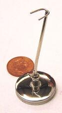 SCALA 1:12th Flauto in Metallo Argento Stand Casa delle Bambole Miniatura Strumento Accessorio