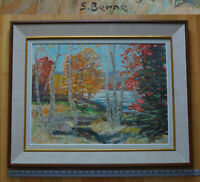 18 x 24 Sydney BERNE Listed Artist large Original Painting Quebec Oil on Canvas