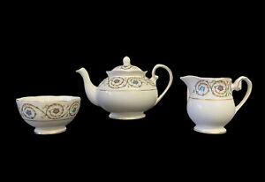 Royal Grafton Athens Floral Bone China Teapot, Creamer Jug and Sugar Bowl Set