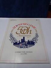 1983 50th Anniversary All Star Game Program Comiskey Park, Chicago/card insert