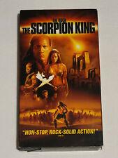 "THE SCORPION KING - VHS 2002 - Dwayne ""The Rock"" Johnson Michael Clark Duncan"
