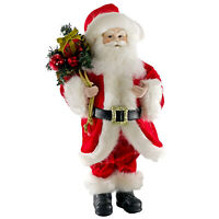 "Katherine's Collection 18"" Jolly Santa Claus Figure Retro Vntg Christmas Decor"