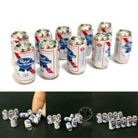 10Pcs/Set Beer Cans 1/12 Dollhouse Miniature Scene Toys Cans Model Mini Kid L6A7