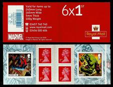 GB 2019 MARVEL COMICS SUPER HEROES HULK SPIDER-MAN BOOKLET MNH