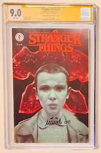 CGC SS 9.0 STRANGER THINGS #1 COMIC SIGNED BY MILLIE BOBBY BROWN DARK HORSE