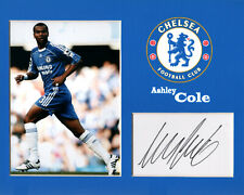 Ashley Cole (Chelsea) signed card in display mount 10x8 ready for framing