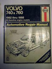 Haynes Volvo 740 760 Repair Service Manual 1982-1988 Turbo Shop Repair