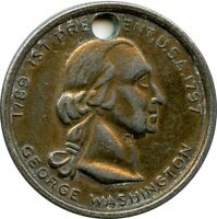 1789-1797  1st President U.S.A George Washington Funeral Coin Medallion Token