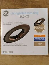 "GE Changeable Trim Ring Converts 5""-6"" Recessed Downlight Trim Ring Bronze"