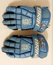 "Brine King Superlight #27  Lacrosse Gloves - Size Meduim 12"" Blue Igloo"