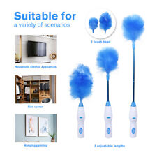Electric Microfiber Feather Brush Duster Spin Cleaning Tool Adjustable Style
