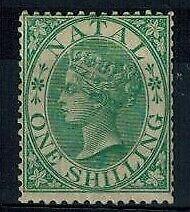 Natal 1s Green Mint Original Gum F/VF S.G. 25 CV L 250